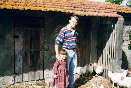 Nadia loved mum and dad's chickens