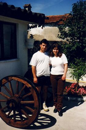 Mario Espada with his wife Celeste