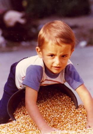 Jimmy playing in the corn 1979?