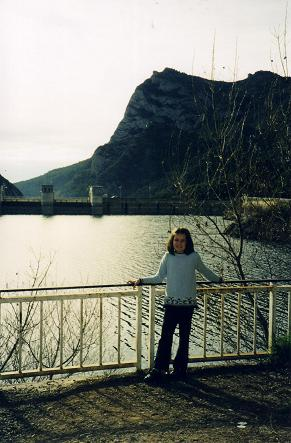 Nadia by the Oliana reservoir