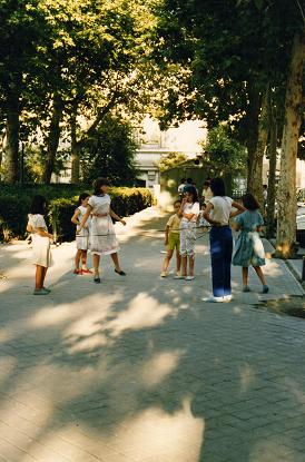 Kids playing in Madrid