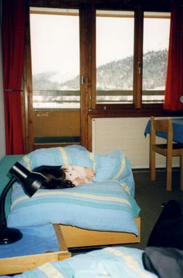 Our room in the hostel in St-Moritz