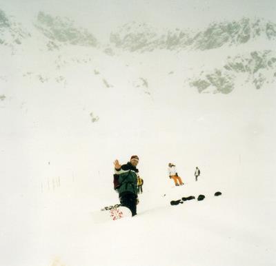 Snowboarding in St Moritz