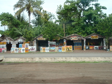 Paintings for sell in Mto wa mbu near Manyara Lake National Park