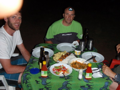 Mark and me at the Twiga Camping and Lodge