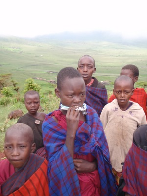 Masai Children  near Ngorongoro