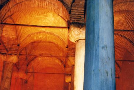 Underground Byzantine cistern in Istanbul