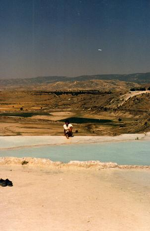 Myself, by the natural pools in Pamukkale