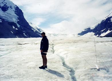 Eric on the Athabasca Glacier