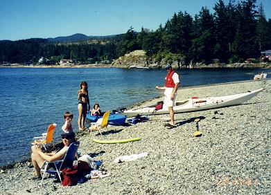 Kayaks, sun, beaches and amazing scenery equals BC