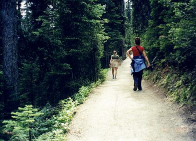 Trail of Lake Louise leading to the Agnes Tea House