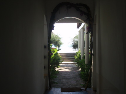 Gate leading to the Indian Ocean