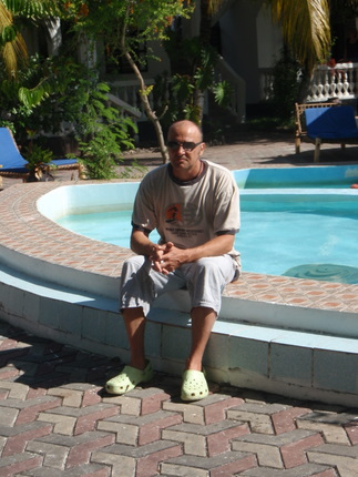 Myself by the pool