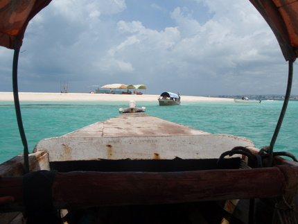 Sandbar Island, view from the boat