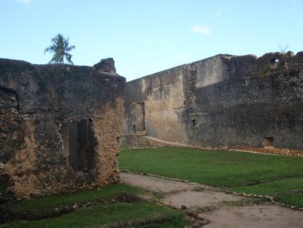 Imposing Mtoni Palace ruins in Zanzibar